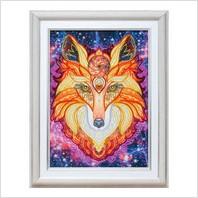 """Вышитая бисером картина """"Огненный лис"""""""