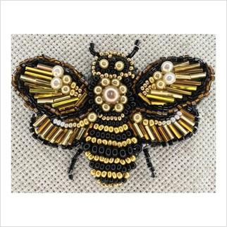 Бджілка - БР-018 - ВДВ - Схема для вишивки бісером - Броші