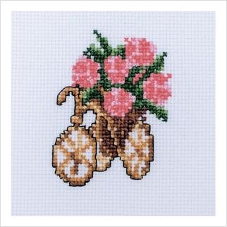 Велосипед - М-0255 - ВДВ - Набір для вишивки муліне - Натюрморти