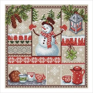 Веселих свят! - М-0258 - ВДВ - Набір для вишивки муліне - Новий Рік