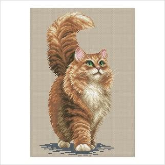 Кіт - М-0259 - ВДВ - Набір для вишивки муліне - Тварини