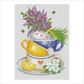 Травяной чай - М-1230 - ВДВ - Набор для вышивки мулине - Натюрморты