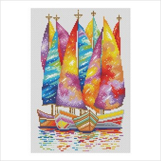Под парусами мечты - М-1263 - ВДВ - Набор для вышивки мулине - Пейзажи