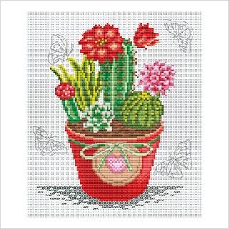 Кактусы - М-1273 - ВДВ - Набор для вышивки мулине - Цветы