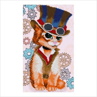 """Набор для вышивания """"Стимпанк кот"""""""