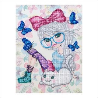 """Набор для вышивания """"Маленькая мечтательница"""""""