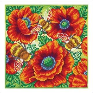 Шмели в цветочном саду - ТН-1250 - ВДВ - Набор для вышивки бисером - Животные, Цветы
