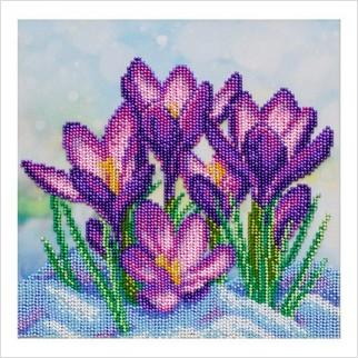 Крокуси - ТН-1328 - ВДВ - Набір для вишивки бісером - Квіти