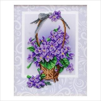 Букет фіалок - ТН-1343 - ВДВ - Набір для вишивки бісером - Квіти