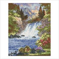 """Набор для вышивания ''Горный водопад"""""""