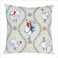 """Набор для вышивания декоративными швами подушки """"Петушок и курочки"""""""