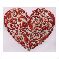 """Набор для вышивания ''Кружевное сердце"""""""