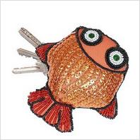 """Набор для вышивания пайетками и бисером ''Ключница """"Рыбка"""""""