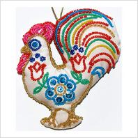 Набор для вышивания пайетками и бисером ''Декоративная игрушка