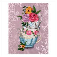 """Набор для вышивания """"Цветочное чаепитие"""""""