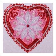 Набор для вышивания пайетками и бисером ''На любовь!