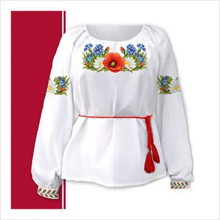 Набор текстиля женской сорочки-вышиванки (размер 42-56)