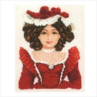 """Набор для вышивания ''Кукла в красном"""""""