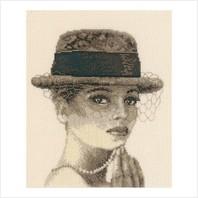 """Набор для вышивания ''Леди в шляпе"""""""