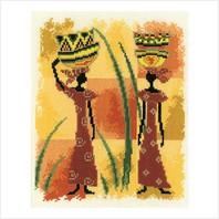 """Набор для вышивания ''Африканка в красном"""""""