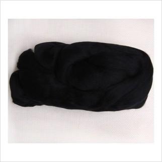 Шерсть для валяния, цвет чёрный