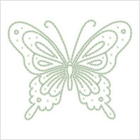 Водорастворимый флизелин со схемой вышивки бисером или нитками