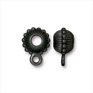 Бусина бейл корона (античный черный)