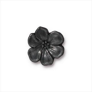 Пуговица цветок яблони (античный черный)