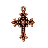 Крест трилистник большой (античная медь)