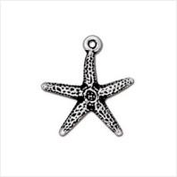 Подвеска морская звезда (античное серебро)