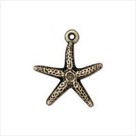 Подвеска морская звезда (античная латунь)