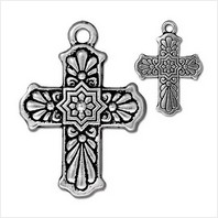 Крест талавера большой (античное серебро)