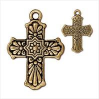 Крест талавера большой (античное золото)