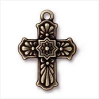 Крест талавера большой (античная латунь)