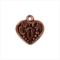 Сердце с замочной скважиной (античная медь)