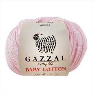 Пряжа Baby Cotton, цвет розовый
