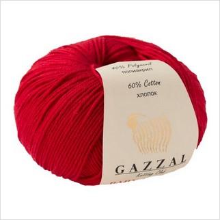 Пряжа Baby Cotton, цвет красный