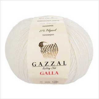 Пряжа Galla, цвет белый