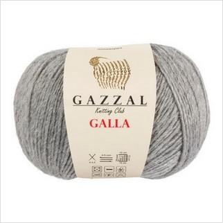 Пряжа Galla, цвет светло-серый