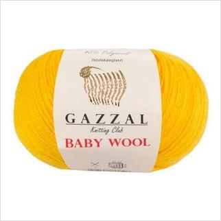 Пряжа Baby Wool, цвет желтый