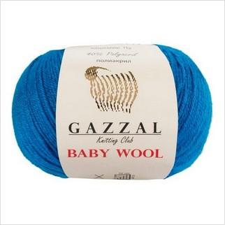 Пряжа Baby Wool, цвет синий