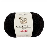 Пряжа Artic, цвет черный