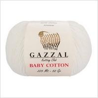 Пряжа Baby Cotton, цвет молочный
