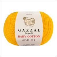 Пряжа Baby Cotton, цвет желтый