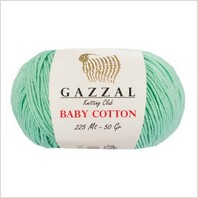 Пряжа Baby Cotton, цвет морская волна