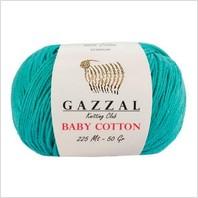 Пряжа Baby Cotton, цвет бирюзовый