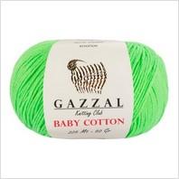 Пряжа Baby Cotton, цвет салатовый