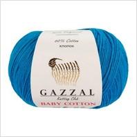 Пряжа Baby Cotton, цвет светло-синий