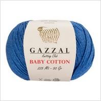 Пряжа Baby Cotton, цвет синий