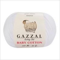 Пряжа Baby Cotton, цвет белый